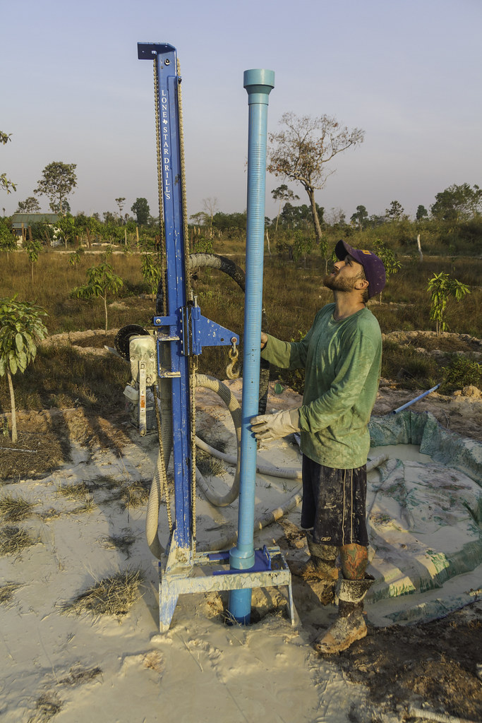 Rock Foundation Cambodia water well drilling rig | Rock Foun… | Flickr