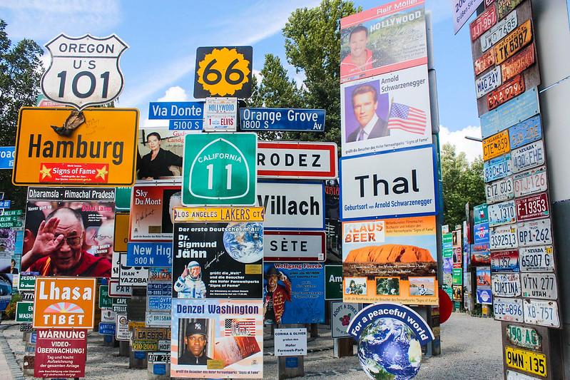 Fernweh-Park Signs of Fame e.V., Graben, Hof, Bavaria, Germany