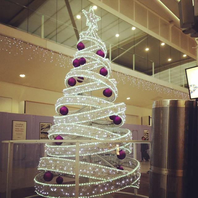 Christmas tree in Terminal 3