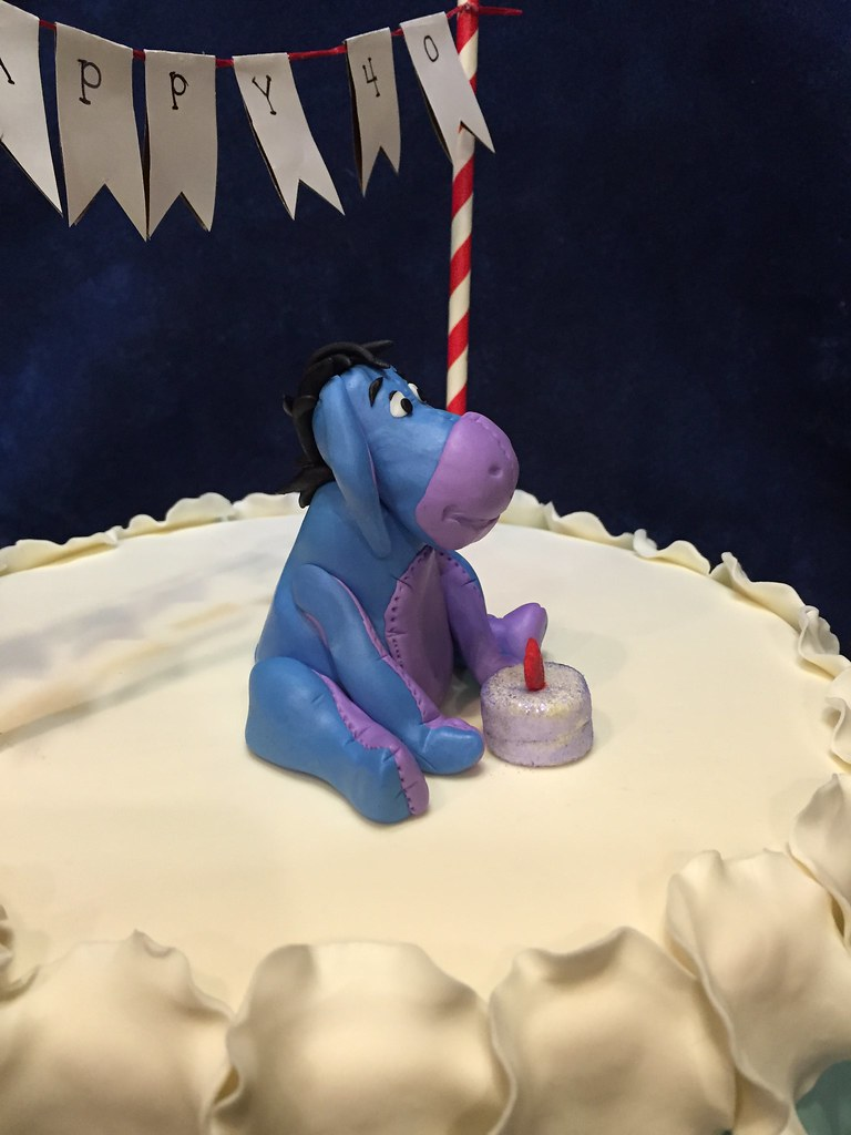 Incredible Ombre Eeyore Birthday Cake Michelle Flickr Funny Birthday Cards Online Inifofree Goldxyz