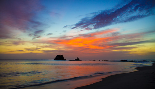 newzealand summer beach sunrise landscape mangawhai