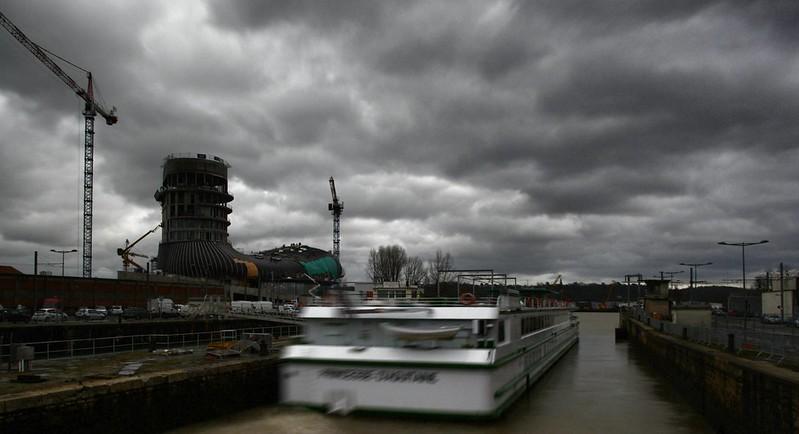 ms princesse d'aquitaine sortant des bassins à flot - Bordeaux, 26 fevrier 2015