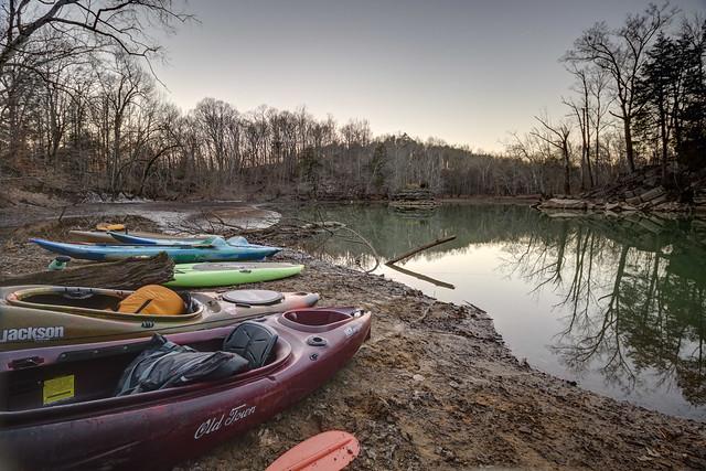 Kayaks, Bonk Knob, Van Buren County, Tennessee
