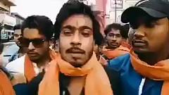 // A peaceful Sanghi threatening Mamata Banerjee of utter mayhem. How cute. // :smirk:@viral_bee @gallerygrandeurhttps://m.facebook.com/story.php?story_fbid=10156157992425688&id=806195687