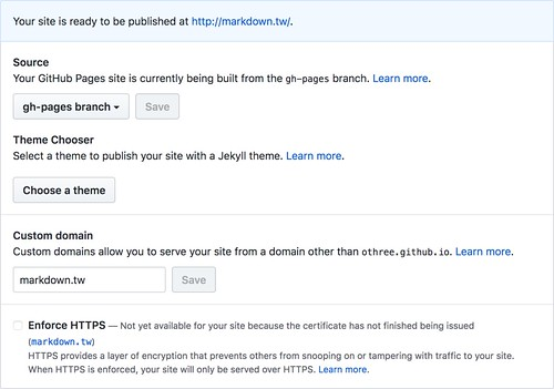 GitHub Pages | by othree