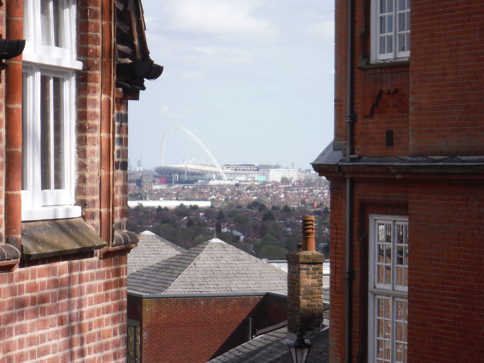 Glimpses of Wembley Stadium between houses SWC Short Walk 40 - Harrow-on-the-Hill (South Kenton or Northwick Park to Harrow-on-the-Hill)