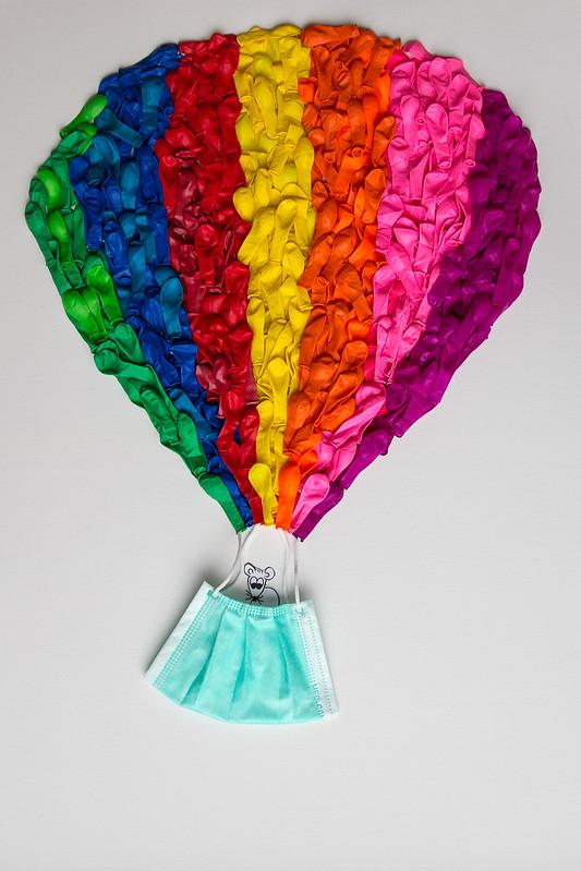 Mäuschen im Heißluftballon-Traum