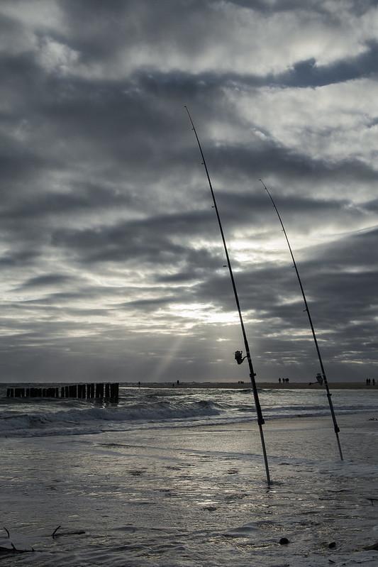 www.hacienda-la-colora.com Sunset Coucher de soleil - Cap Ferret Bassin d'Arcachon Ocean Pecheur Fisherman Beach Plage Waves Vagues Water Eau - Picture Image Photography