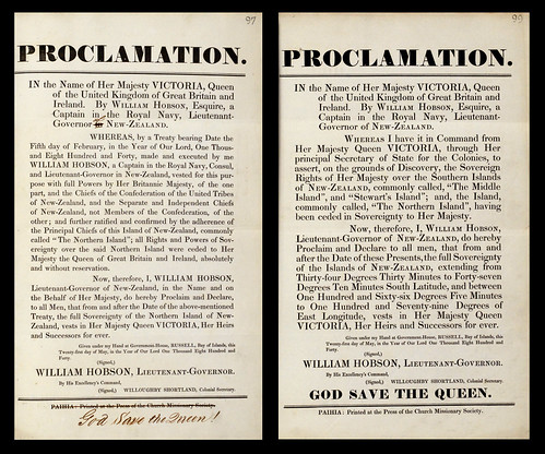 Proclamations of sovereignty over Aotearoa New Zealand, 21 May 1840