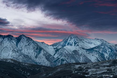 winter snow mountains clouds sunrise landscape utah nikon cloudy sigma draper 24105mmf4 cornercanyon sigmaart d800e