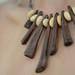 Root wood & beach pebbles