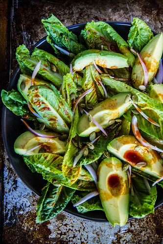 Smoky Romaine and Avocado Salad | by Heather Christo