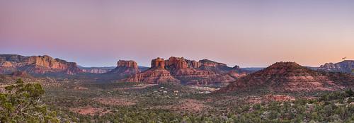 sunset arizona panorama southwest twilight sedona goldenhour cathedralrocks