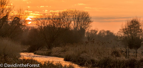 sunset sun clouds canon river reeds hampshire rivertest