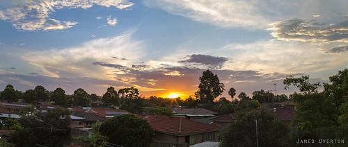 sunset panorama sydney australia newsouthwales