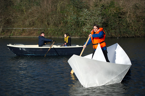 Land ahoy! Young engineers launch giant origami paper boat | by UK Young Scientists & Engineers Fair