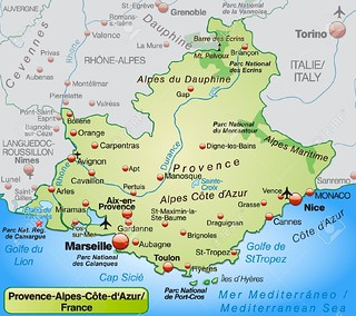 Map Of France N Italy.Map Of Provence And French Riviera Undated This Area Of S Flickr