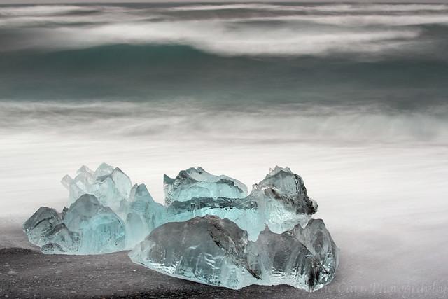 Icebergs, Jokulsarlon Beach