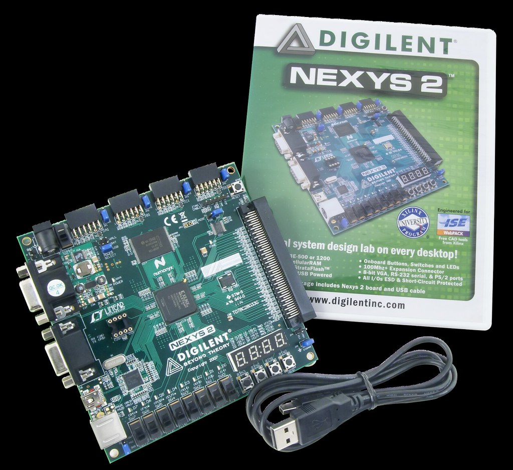 Nexys 2 Spartan-3E FPGA Trainer Board | The Nexys 2 is a pow… | Flickr