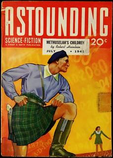 Astounding Vol. 27, No. 5 (July, 1941). Cover Art by Hubert Rogers