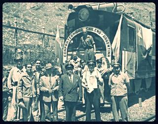 1953 visita de Perón a Chile de 1953, engalanada para la acasión