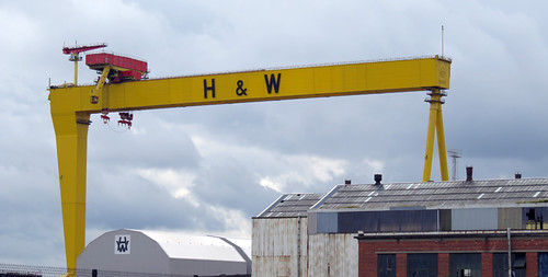 The iconic yellow H & W crane on Belfast's Maritime Trail