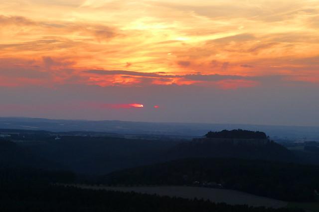 Sonnenuntergang über Königstein