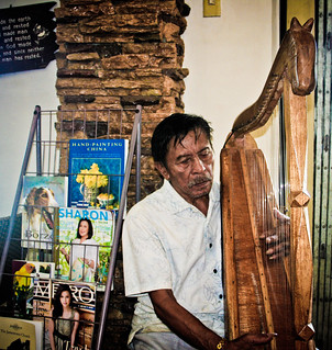 Harp at a Bus Stop