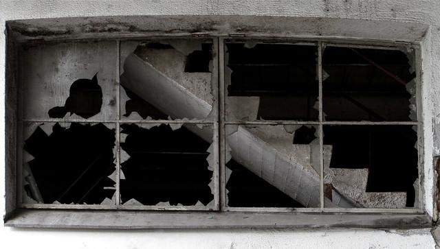 through the window 5