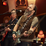 Thu, 26/02/2015 - 2:36pm - Steve Earle and The Dukes (Kelly Looney on bass, Will Rigby on drums, Chris Masterson on guitar, Eleanor Whitmore on fiddle and vocals) perform for FUV with an audience of Marquee Members. Hosted by Russ Borris. Photo by Gus Philippas