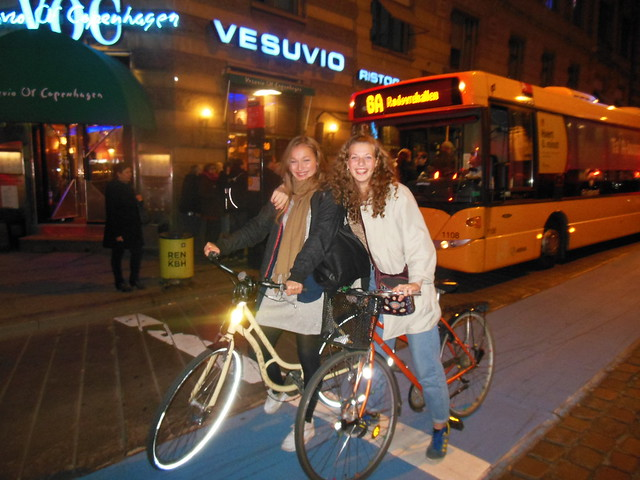 Copenhagen Girls on bikes #1 - after dark the streets are alive with........ !