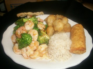 C8 Shrimp & Brocolli and Sweet & Sour Pork   by Golden Gate Chinese Restaurant