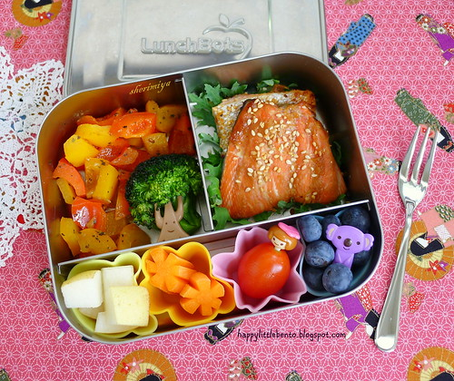 Miso-Glazed Salmon LunchBots Bento | by sherimiya ♥