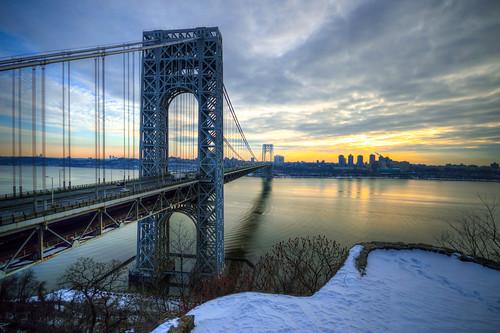 new york city nyc newyorkcity newyork sunrise 95 gwb georgewashingtonbridge interstate95 nycsunrise gwbsunrise