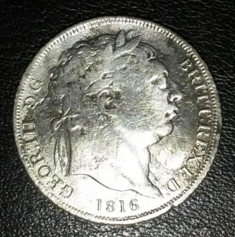 George III Bullhead Shilling - 1816   by Transport Pixels