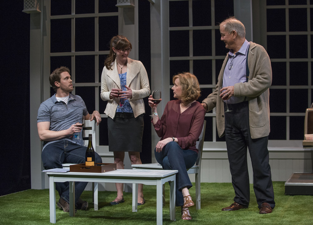 Jordan Brown (Christopher), Amanda Drinkall (Molly), Mary Beth Fisher (Roz) and Francis Guinan (Ray)
