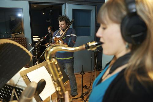 Annie Dominique Quintet in studio 2014   by annie_dominique