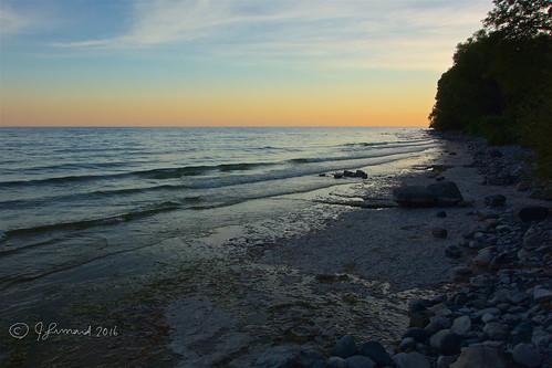 lakeontario lucaspoint cobourg ontario lake sunset sky