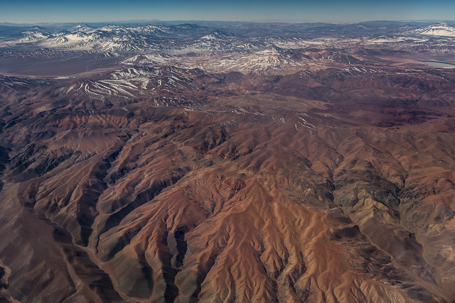 Flying over Andes