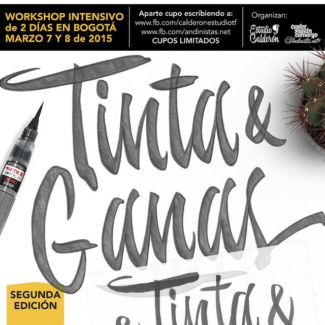 Brush Lettering Workshop Bogotá 2015