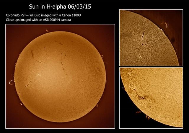Sun in H-alpha 06/03/15
