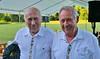 Nikolaus Pritz und Hans Lind sind die Senioren der Blaskapelle. Sie müssen noch auf die Autobahn um nach Hause zu kommen. Es hat sich auf jeden Fall gelohnt, es war scheen.