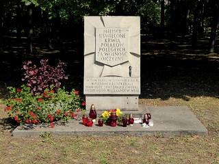 """A """"Tchorek plaque"""" in the park named after General Józef Sowiński"""