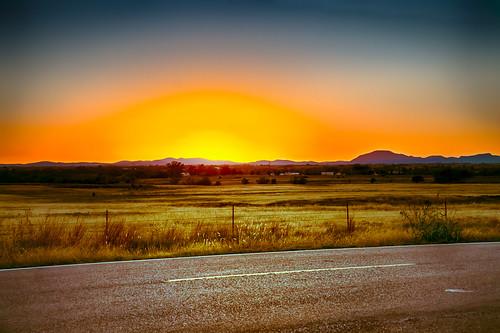 autumn sunset oklahoma field evening highway unitedstates nik elgin hdr
