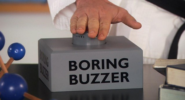 Parks and Rec boring buzzer