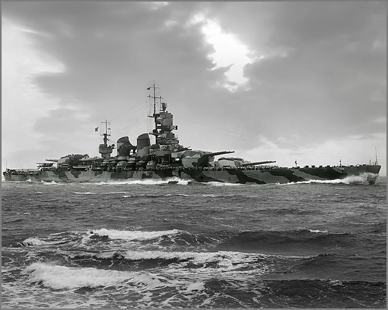 Littorio, a battleship of Italy's Vittorio Veneto class