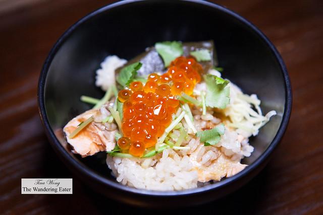 My serving of Ocean Trout Uonuma Koshihikari rice pot