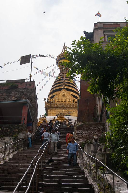 Steps leading to Svayambhu Stupa