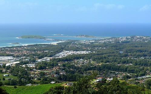 day view sunny australia lookout nsw vista tasmansea coffsharbour northcoast southpacificocean australiantowns sealylookout
