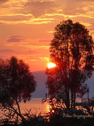 κέρκυρα ανατολή θάλασσα τοπίο corfu landscape sunrise outdoor serene sky beach παραλία ακτή greece